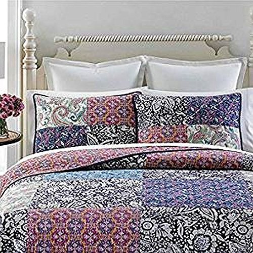 Martha Stewart Collection Potpourri Patchwork Standard Quilted (Patchwork Quilted Standard Sham)