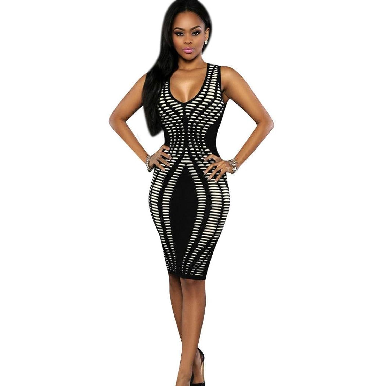 Muxika@ Sexy Women Bandage Sleeveless Bodycon Evening Party Dresses
