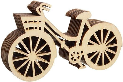 TOOGOO Adornos de Forma de Bicicleta de Madera artesania arbol de ...