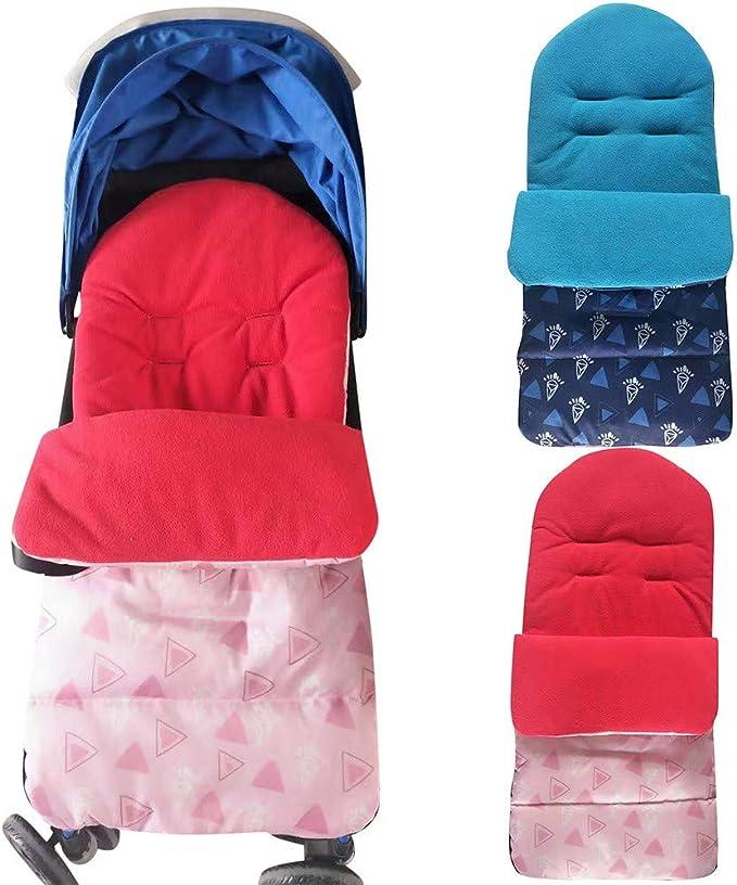 Allence Universal Baby Fußsack Kleinkind Winddicht Warm Pram Kinderwagen Dickes Wattepad Gemütliche Zehen Schürze Liner Buggy Rot Blau Bekleidung
