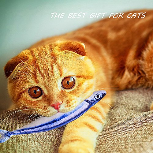 Toy Cat Organic (Organic Catnip Toys, ZLIXING Soft Stuffed Pet Cat Chewing Toy Bulk for Aggressive Chewers Relieves Boredom, Funny Kitty Teething Interactive Toy (Pack of 3))