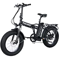 Tucano Bikes - Vélo électrique pliable «Monster 20»  (moteur 500W, suspension avant, vitesse maximale 33km/h, écran LCD,freins hydrauliques)