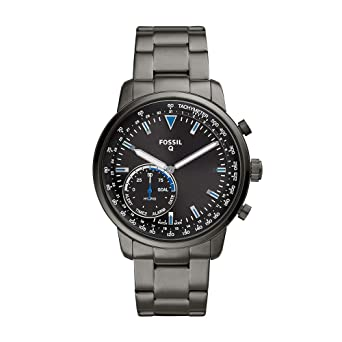 4678aeeac Fossil Men's Hybrid Smartwatch Watch with Stainless-Steel-Plated Strap,  Grey, 22