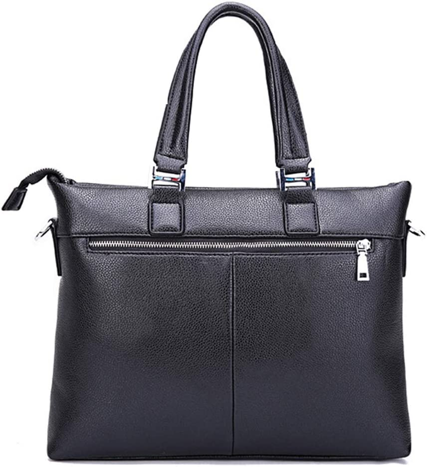 Bxfdc Mens Bag Business Briefcase Computer Bag Mens Europe and The United States New Shoulder Messenger Bag Handbag Color : Black