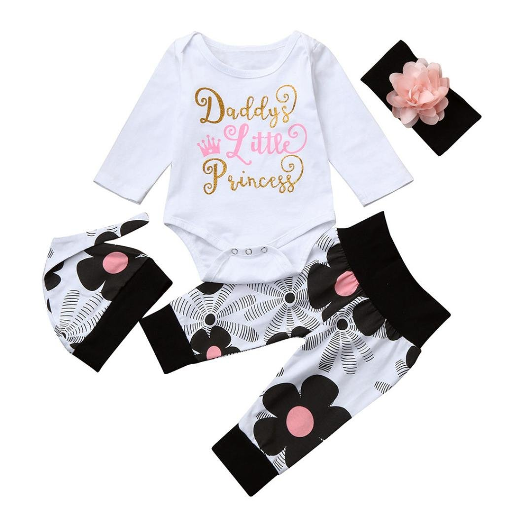 Baby Rompers Dreammimi Newborn Girls Clothes Baby Bodysuit Romper+Pants +Hat+Headband 4Pcs Outfit Set Baby Long Sleeve Spring and Autumn Clothing