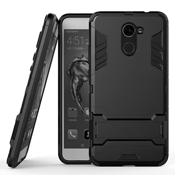 Huawei Y7 Prime Case, SsHhUu Shock Proof Cover Dual Layer Hybrid Armor  Combo Protective Hard Case with Kickstand for Huawei Y7 Prime/Huawei Enjoy  7