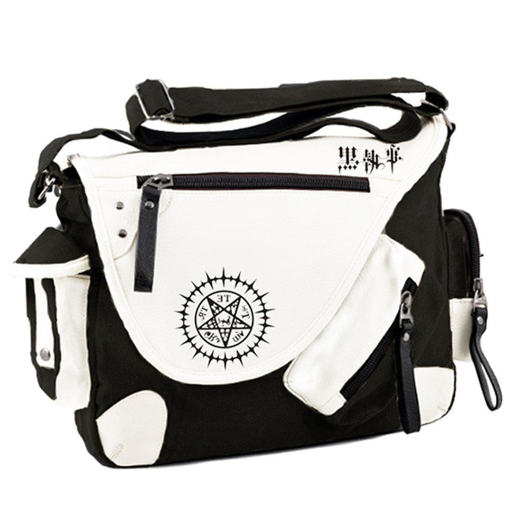 Siawasey Black Butler Anime Cosplay Backpack Messenger Bag Shoulder Bag