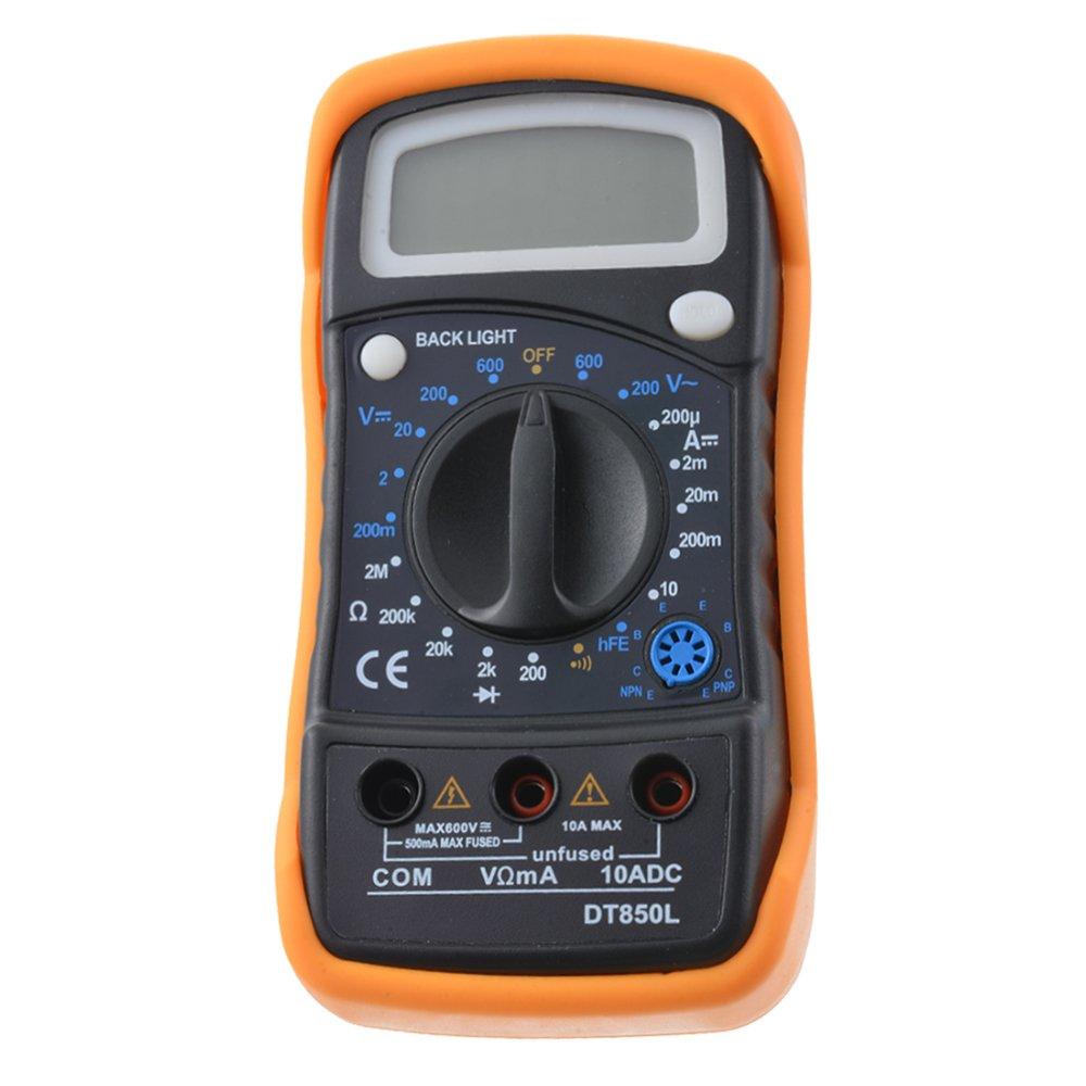 Godagoda DT830L//DT850L Multim/ètre Num/érique Digital Universelle Fonction dAffichage de R/étro-/Éclairage Testeur Mini Portative Pratique