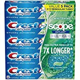 Crest Complete Whitening + Scope Mint Outlast Toothpaste, 5 pk./6.5 oz. Anticavity Fluoride Toothpaste
