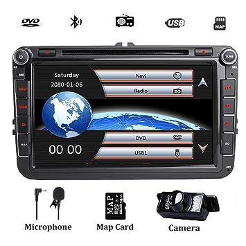 Radio estéreo doble DIN para coche DAB+ (incluida) para VW ...
