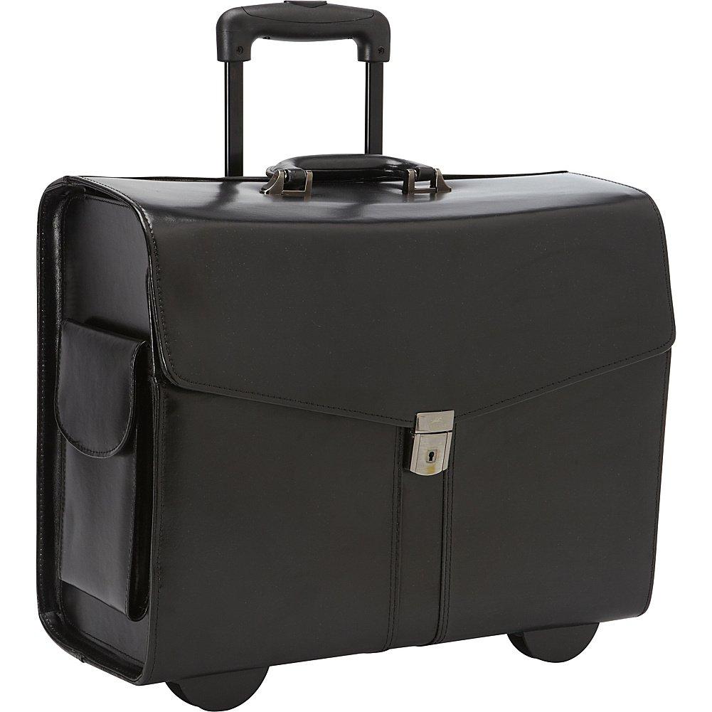 ビジネスレザーデラックスWheeled Laptop互換カタログケース色:ブラック B00S31K2ZG