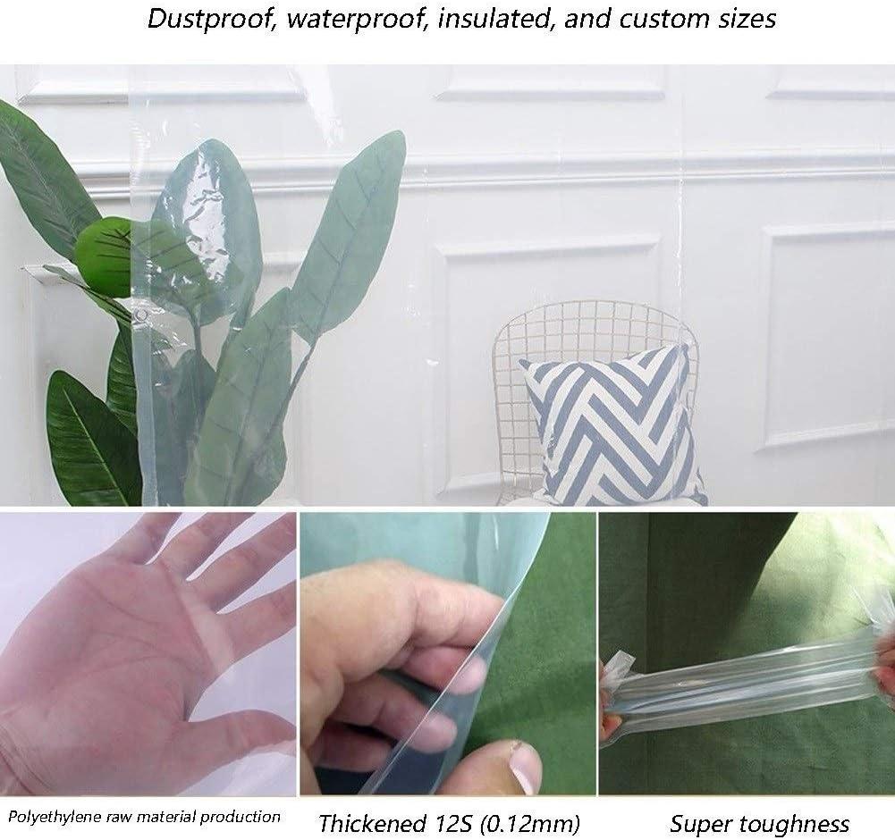 Color : Clear, Size : 1x1.0m Personnalisable GYYARSX Transparent B/âche De Protection Capot De Protection Anneau M/étallique Oeillet Tarp Sol Fiche Camping en Plein Air Couverture