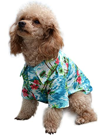 2e0527e9205 EXPAWLORER Hawaiian Pet Dog Polo T Shirts Cute for Small to Medium Puppy  Cats Cool Summer