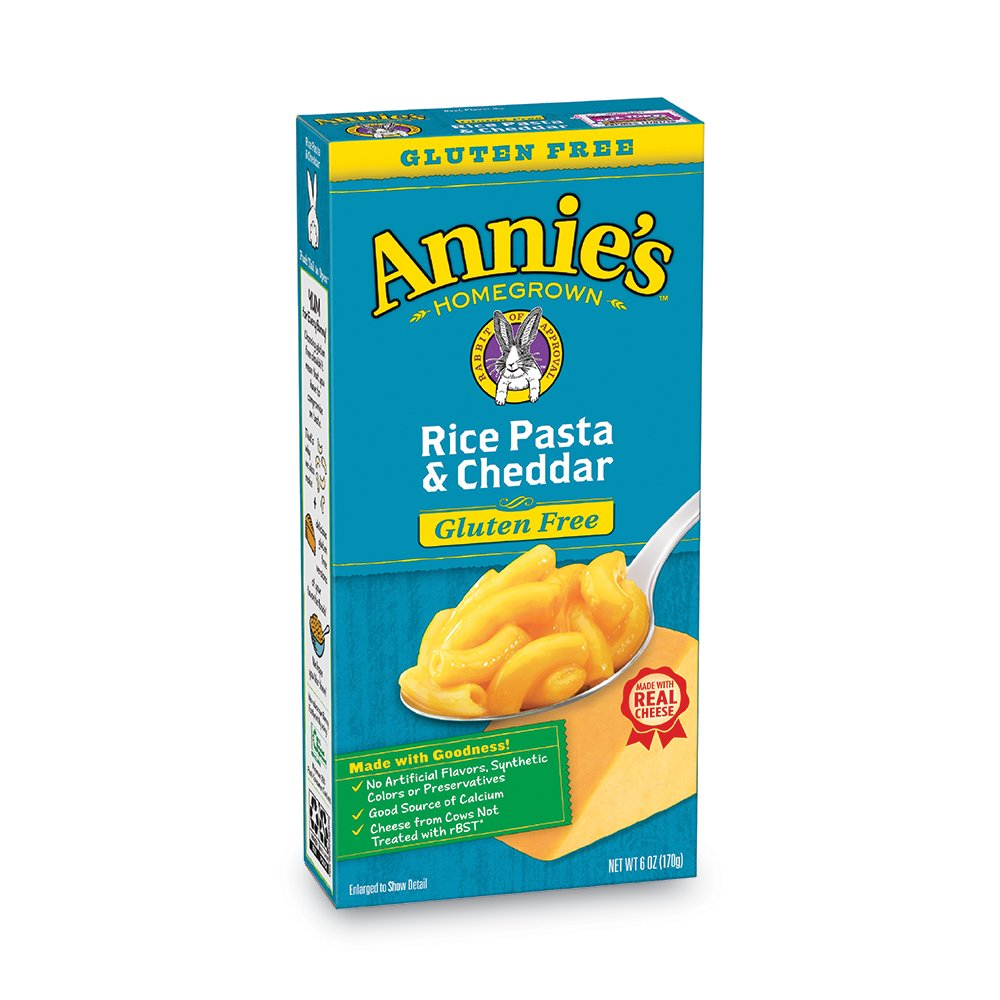 Annie's Gluten Free  Rice Pasta & Cheddar Macaroni & Cheese, 12 Boxes, 6oz (Pack of 12)