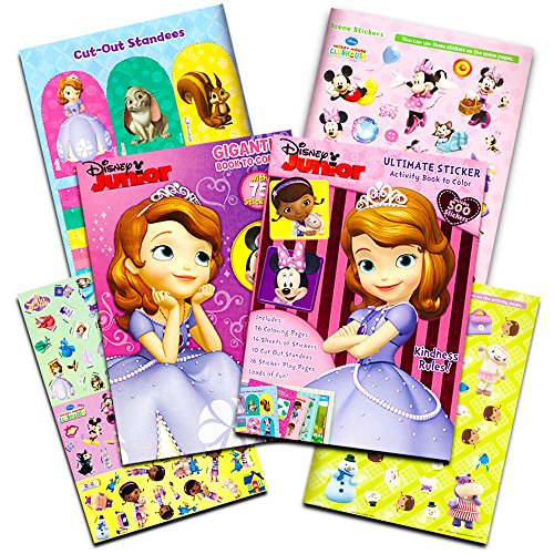 Disney Junior Sofia The First (Disney Coloring Books Set for Kids Toddlers Girls -- 2 Giant Books and Over 500 Stickers Featuring Princess Sofia the First, Minnie Mouse and Doc McStuffins (Disney Junior Toys))