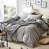 TheFit Paisley Textile Bedding for Adult U619 Classic and Modern Duvet Cover Set 100% Washed Cotton, Twin Queen King Set, 3-4 Pieces (King)