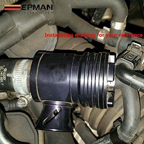 epman para Volkswagen VW GTI GOLF JETTA Beetle, Audi A3, A4, A6, TT, 1.8T Turbo Boost BOV Blow Off Válvula B (plata, negro): Amazon.es: Coche y moto