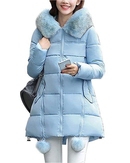 DianShao Mujer Chaqueta De Abrigo para Invierno Chaquetas con Caliente  Capucha Espesan Azul 2XL  Amazon.es  Ropa y accesorios ac1e51c67eb