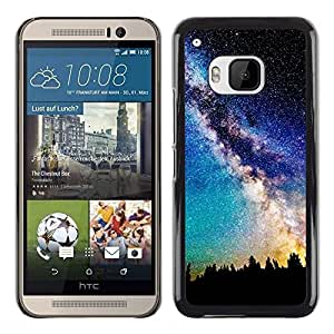 LECELL -- Funda protectora / Cubierta / Piel For HTC One M9 -- Orions Belt Beautiful Stars Space --