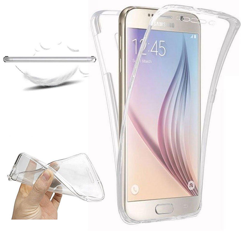 XCYYOO Funda para Samsung Galaxy S6 Edge Plus Silicona,Carcasas para Samsung Galaxy S6 Edge Plus, [360 Grados Full Body] Transparente Suave Ultrafina ...