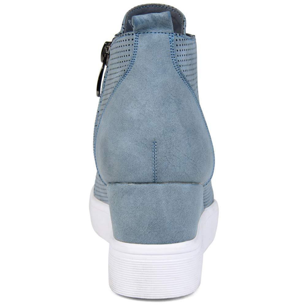 Botines Mujer Cuña Planos Invierno Planas Botas Tacon Casual Zapatos para Dama Plataforma 5cm Elegante Zapatillas Calzado Moda Negro Rosa Marrone Grigio ...