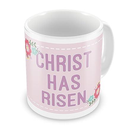Amazon Coffee Mug Christ Has Risen Easter Scrapbook Flowers