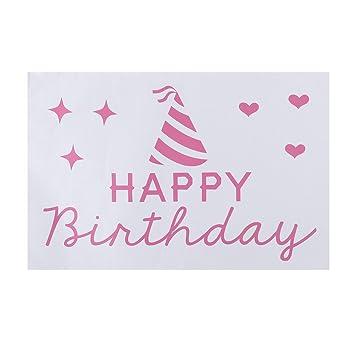 Amazon.com: ultnice globo pegatinas feliz cumpleaños ...