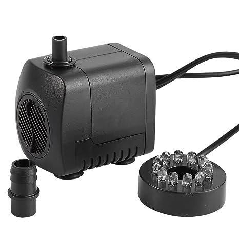 Bomba de Agua Sumergible Pump Acuario Pecera15W LED Ligero Fuente de Agua en 220 240V 7