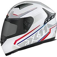 Capacete X11 Moto Motoqueiro Volt Dash Branco tricolor 62