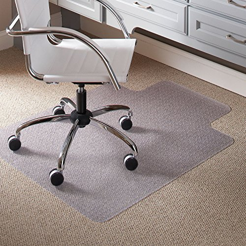 Wide 25x12 Lip Mats - Carpet Chair Mats for Low Pile, 45-Inch by 53-Inch with Lip, Clear Vinyl