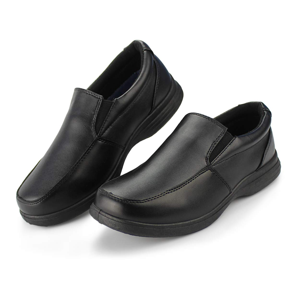 Hawkwell Boy's School Uniform Dress Shoe(Little Kid), Black PU, 13 M US