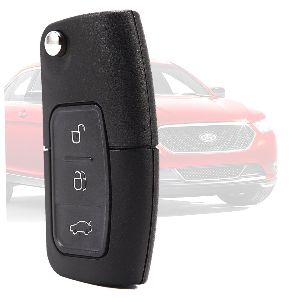 NEW For FORD FOCUS MONDEO CMAX FIESTA GALAXY NEW 3 BUTTON ENTRY REMOTE KEY Control REPLACEMENT with INTERIOR ELECTRONICS TRANSPONDER CHIPS /& LITHIUM COIN CELL by Surepromise