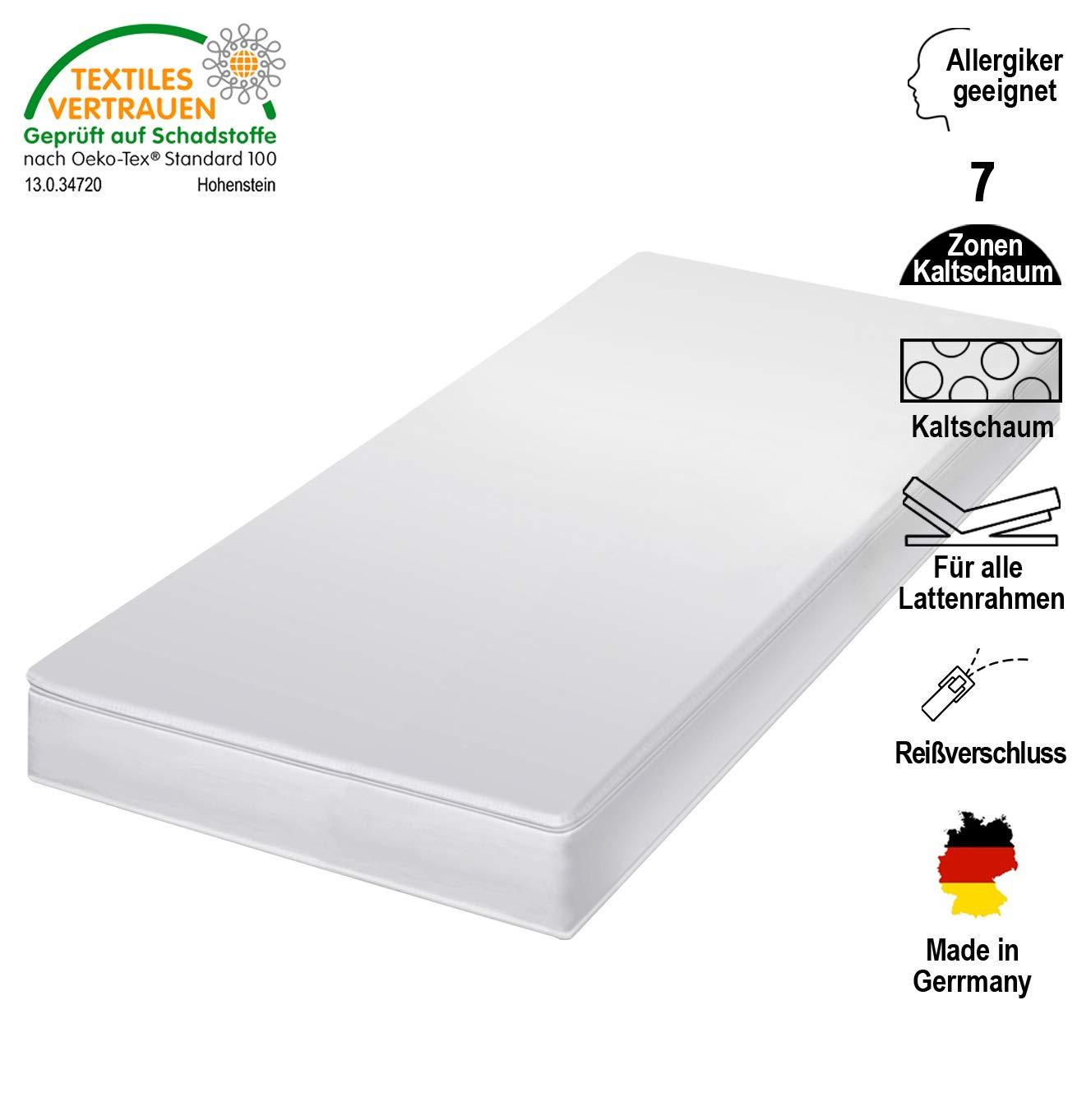 Cpt hydrovital v12 Kindermatratze & Jugendmatratze - Rollmatratze mit Microfaser Bezug - Kaltschaummatratze Maße IN Germany - Matratze Härtegrad H2, (H2) 90 x 200 cm - 7 Zonen
