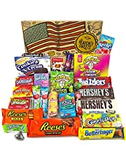 Großer Amerikanische Süßigkeiten Geschenkkorb | Süßigkeiten aus den USA | Auswahl beinhaltet Hersheys, Reeses, Jelly Belly, Jolly Rancher | 27 Produkte in einer tollen retro Geschenkebox