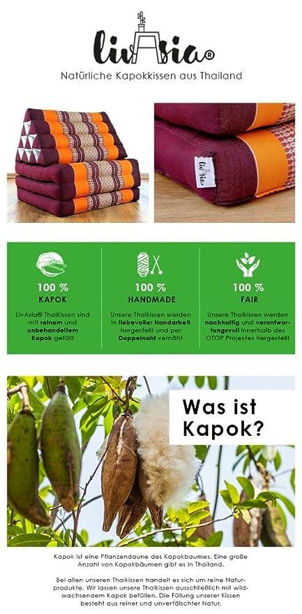 Yogakissen als Hilfe livasia Festes St/ützkissen f/ür Yoga Asanas Blockkissen BZW W/ürfel aus Kapok der Marke