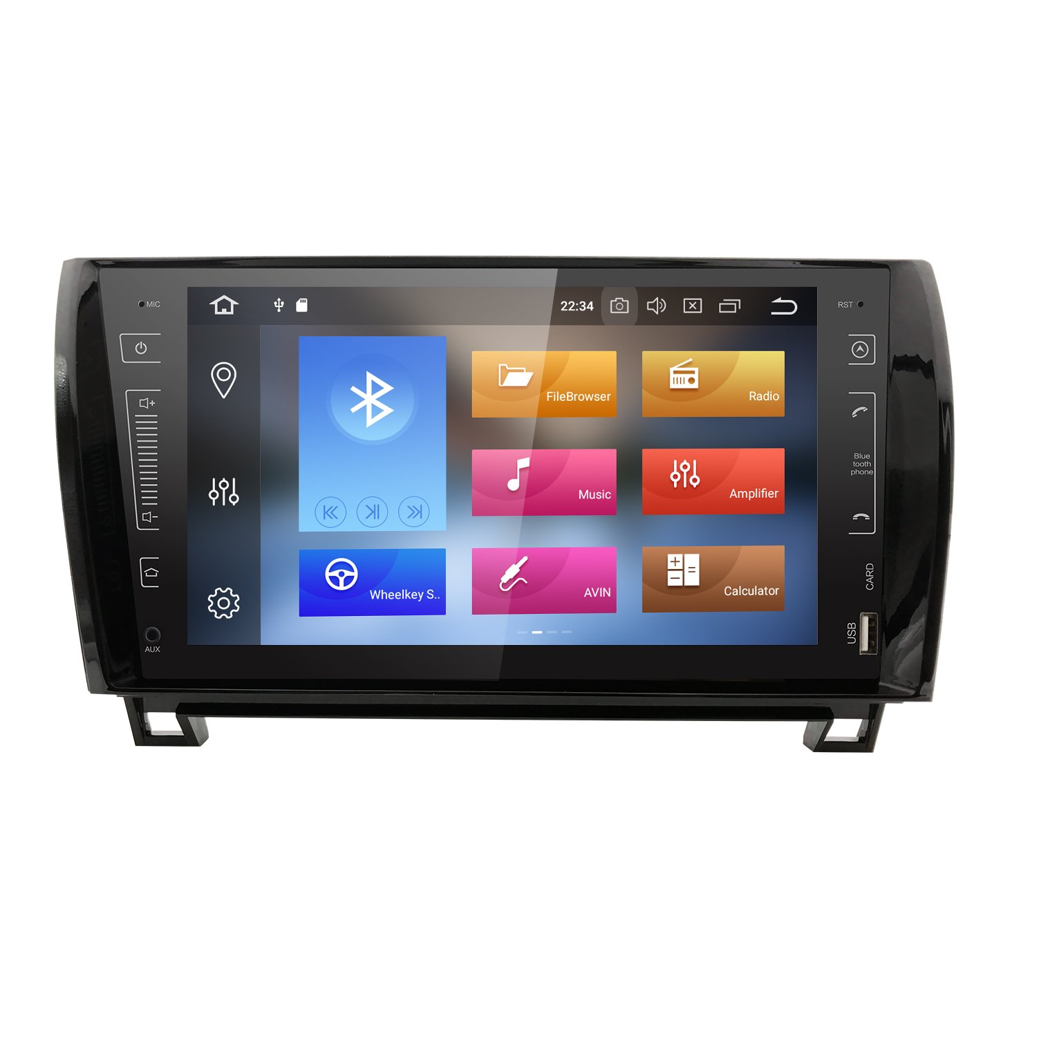 in Dash Android 8.0 Double Din 9 Inch Capacitive Touch Screen Car Stereo Video Receiver Player GPS Navigation with Bluetooth for Toyota Tundra Sequoia ...