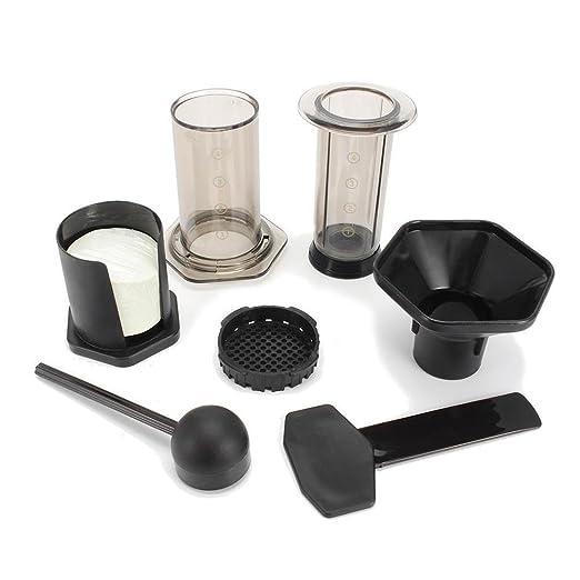 Fayer Cafetera eléctrica portátil con filtro de presión manual y ...