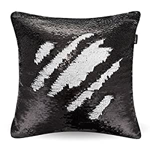 reversible sequins mermaid pillow case two colors throw cushion case 4040cm only. Black Bedroom Furniture Sets. Home Design Ideas