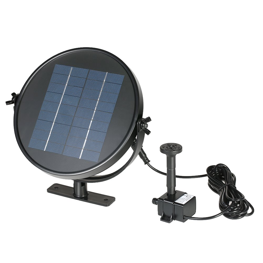 Anself 9V 3W/2W Solar Panel Powered Fountain Submersible Brushless Water Pump Kit for Bird Bath Pond, 190L/H Lift