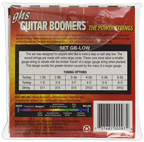 ghs gb low boomers low tune electric guitar strings guitar buy online free. Black Bedroom Furniture Sets. Home Design Ideas
