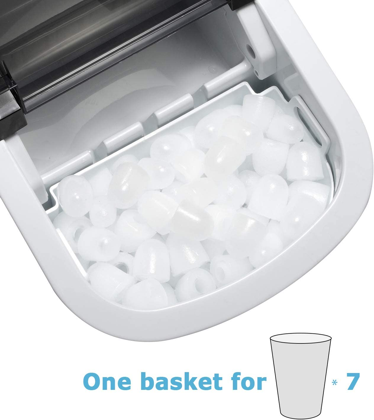 9 Ice Cubes Ready in 6 Mins Stainless Steel Ice Maker with Ice Scoop and Basket Full Stainless Steel Tavata Countertop Portable Ice Maker Machine Makes 26 lbs of Ice per 24 Hours