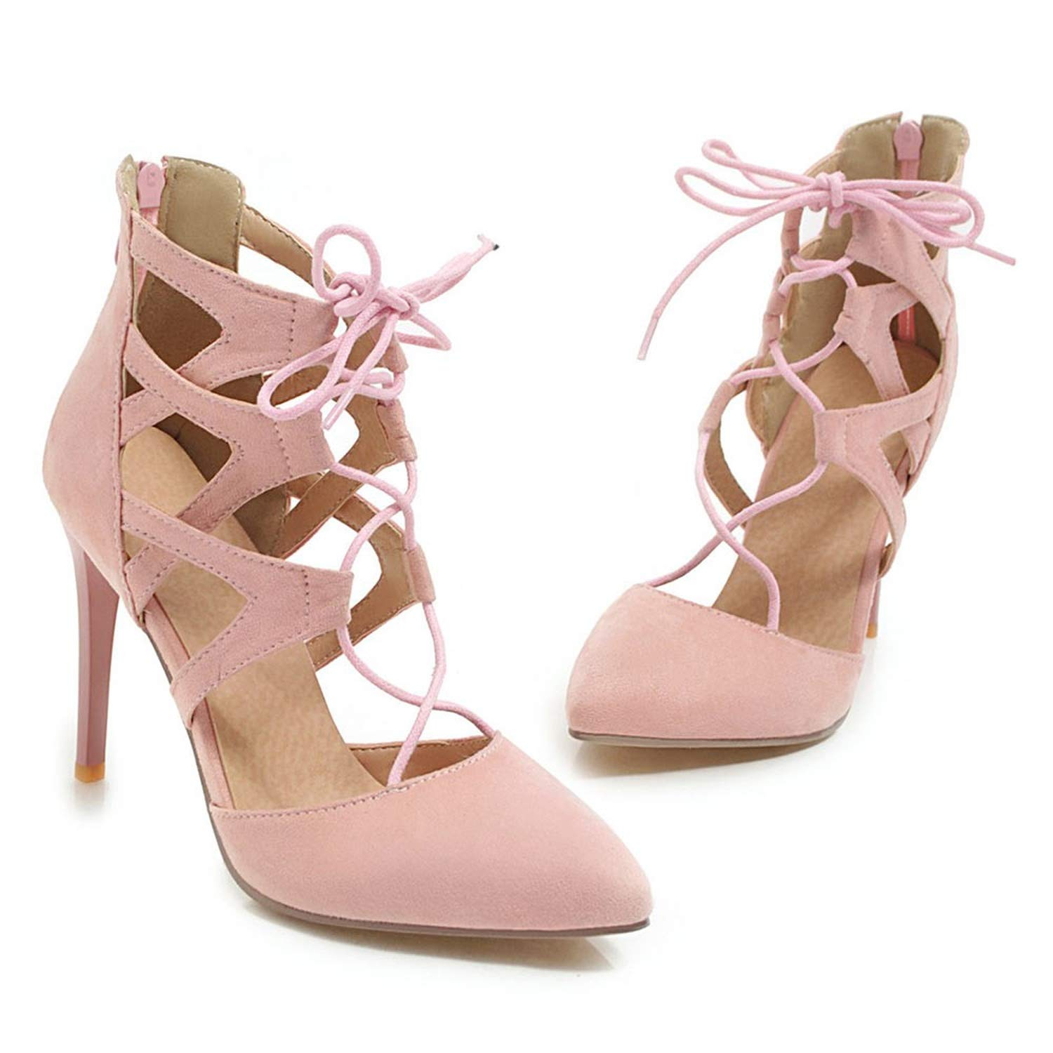 Pink Women Pointed Toe Sexy Cutouts Sandals Sexy Summer shoes