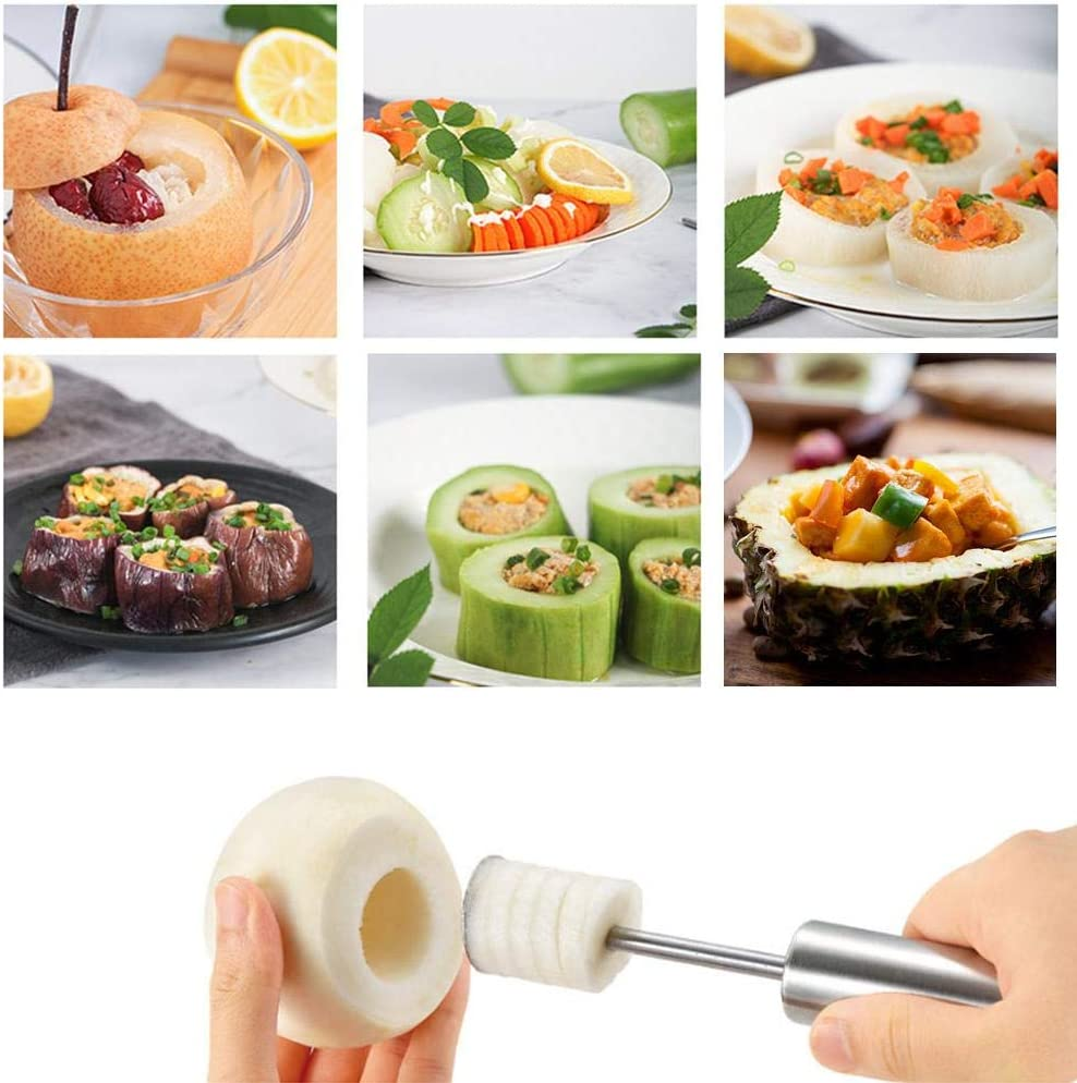 Easy Grip Chili Pepper Cucumber Core Remover Drill for Home Kitchen Durable Easy Remove Kitchen Stuffed Vegetables Veggies Seed Remover Tool Vegetable Fruit Core Remover