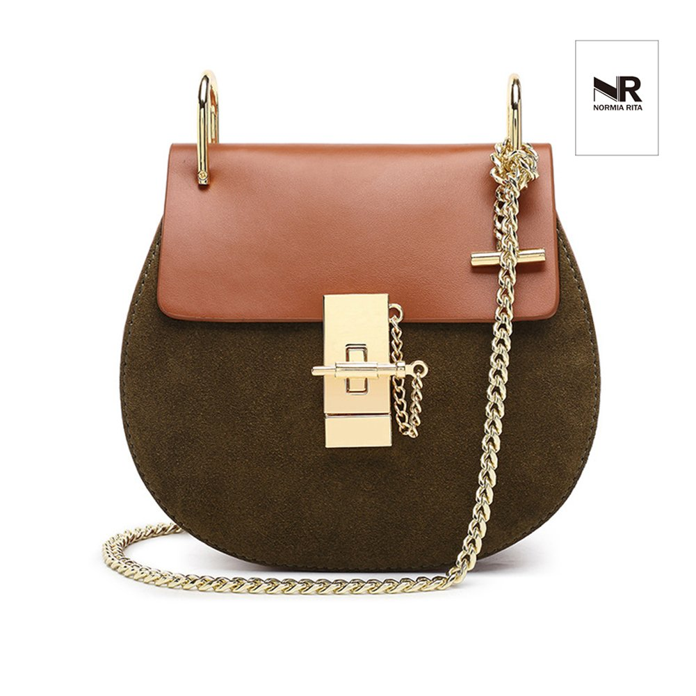 Normia Rita Punk Style U-Ring Flap Bag Chain Bag Crossbody Envelope Bag Clutch Mini Bags For Girls NooR062-Beige