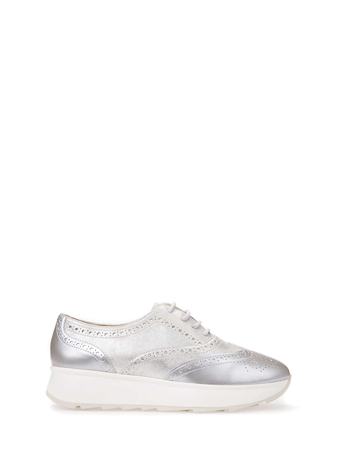 Geox D825TA 0CNPV Zapatos Casual Mujeres 36 EU|Plata