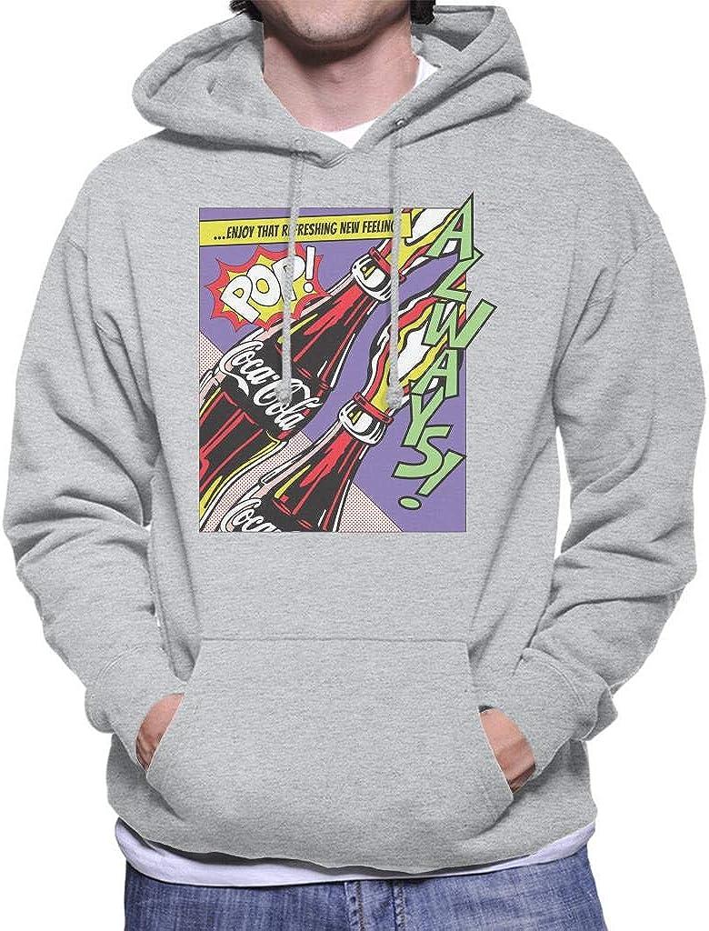 Coca-Cola Pop Art Always Mens Hooded Sweatshirt