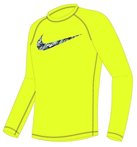 887bde85 Amazon.com: Nike Boy's Watercamo Long Sleeve Rash Guard 4 Volt: Sports &  Outdoors