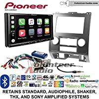 Volunteer Audio Pioneer AVH-2440NEX Double Din Radio Install Kit with Apple CarPlay, Android Auto and Bluetooth Fits 2008-2012 Ford Escape, Mazda Tribute, Mercury Mariner