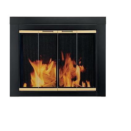 amazon com pleasant hearth ar 1022 arrington fireplace glass door rh amazon com