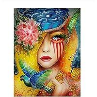 Pintar por número Cuadro abstracto Mujer colorida Lienzo